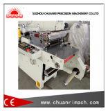 Máquina que corta con tintas del control de interfaz antropomecánico con el cristal de exposición que presiona la estructura