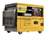 Охлаженный воздухом генератор портативной молчком малой силы двигателя дизеля 5.5kw электрический портативный с тепловозным производя производством электроэнергии 4-Stroke