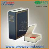 Caixa segura do livro do dicionário com fechamento chave