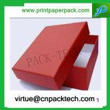 Tapa del chocolate de la joyería de la cartulina del rectángulo de regalo y rectángulo bajo de papel impresos aduana creativa