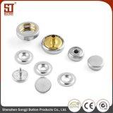 Botón individual redondo de encargo del broche de presión del metal de Monocolor