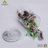 круглый широкий опарник конфеты опарника еды рта 720ml с крышками