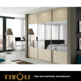 引出しおよび棚Tivo-0064hwが付いている高く白いワードローブの差込みの戸棚