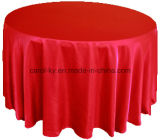 Tablecloths lisos redondos do hotel do cetim
