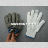 Сетка металла двойного слоя отрезала упорную перчатку - перчатку работы (2353)