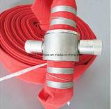 """2.5 """" *30mイギリスのカップリングが付いている赤いRubber/PVC/PU/TPUの消火ホース"""