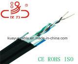 Câble extérieur 4 paires de câble d'UTP Cat5e 24AWG/Computer/câble de caractéristiques/câble de transmission/câble/connecteur sonores