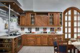 Armadi da cucina americani di legno solido di stile della mobilia della cucina