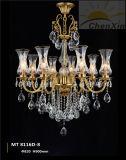 Luzes antigas de cristal do candelabro do pendente do Lampshade da tela para a loja do café