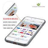 Caja rugosa de la piel de la resistencia de la gota de la contraportada de la caja del teléfono celular del banco de estirar de C&T aplicada con brocha para el iPhone 7 de Apple