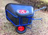 Wheelbarrow plástico das rodas da bandeja dois com baixo preço