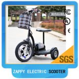 48V 500W Mobility Three Wheel Scooter Folding Electric Zappy Véhicules pour handicapés