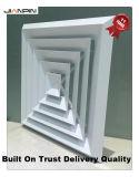 Diffuseur carré conique de registre de plafond de voie de la face 1 - 4
