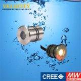 1W impermeabilizzano il multi indicatore luminoso del raggruppamento dell'acquario dell'acciaio inossidabile IP68 di colore del CREE