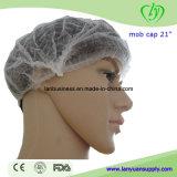 Wegwerfbarer Sugical medizinischer nichtgewebter Pöbel Klipp Cap, Pleated Cap, Mob Cap-doppeltes Gummiband LY-