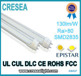 Tubo di Dlc 2FT 4FT 8FT T8 LED del cUL dell'UL, indicatore luminoso del tubo di 10W 16W 20W 36W LED