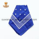 Оптовый изготовленный на заказ Bandana хлопка шарфа напечатанный Paisley квадратный для выдвиженческого подарка