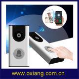 Sonnette visuelle d'IP de WiFi de réseau de vision nocturne de détecteur de mouvement pour la garantie à la maison