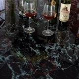 Tabela de jantar de vidro do metal do projeto da forma para o hotel