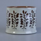 Sostenedor de vela pintado a mano único del modelo de flor con Glazing&#160 reactivo;
