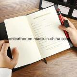 Diario de cuero personalizado del cuaderno de Megnetic para el regalo