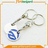 Support de trousseau de clés avec la pièce de monnaie de chariot à Double-Face