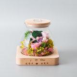 Fiore di promozione in vetro per il regalo della decorazione di cerimonia nuziale
