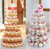カスタム明確なタワーのアクリルの結婚のBithdayのケーキの表示