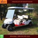 Carrello di golf elettrico di 6 Seater per il terreno da golf ed il club di golf (sedi posteriori di vibrazione posteriore)