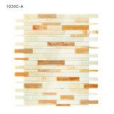 Material de construcción de cristal amarillento del azulejo de mosaico de los kits del mosaico del cuarto de baño del tocador