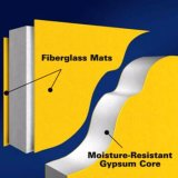 Membrane de gypse avec le tissu de fibres de verre
