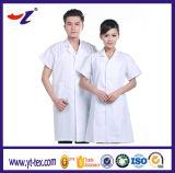 Manteaux de laboratoire unisexe à manches courtes pour usage hospitalier