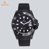 Preiswerte kundenspezifische Form-Mann-Uhr-Gummisilikon-Armband-Uhr mit Soem-Firmenzeichen 72521