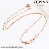 00186の方法ローズの金の十字のステンレス鋼の宝石類のネックレス