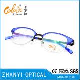 No MOQ Mode Lunettes à lunettes en acier inoxydable Lunettes Lunettes Cadre optique (S8201)