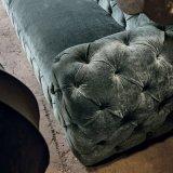 Sofá do sofá de Chesterfield do fiapo do vintage com o sofá da sala de visitas de 4 assentos (F720-9-1)