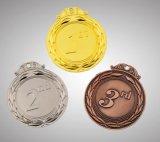蘭の形の装飾を持つブリッジクラブのための金の入賞したメダル