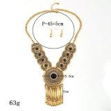 O Rhinestone do Tassel da liga do vintage da forma perla a jóia da colar da indicação