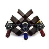 Cremagliera di legno del vino della farfalla di memoria di disegno compatto 8-Bottles