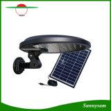 56 LED DCのコネクターおよび外部5W太陽電池パネルが付いている屋外の太陽動力を与えられたPIRの動きセンサーライト