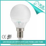 Bulbo cerâmico do diodo emissor de luz da iluminação G45 3W E27