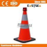 Laranja com o cone claro do tráfego do PVC do chapéu de coco 710mm do fechamento