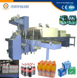 Halb automatische Flaschen-Schrumpfverpackung-Maschine