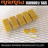 Etiqueta impermeable reutilizable redonda del lavadero del plástico RFID de la frecuencia ultraelevada del rectángulo sostenido de encargo