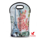 Hot Sell Style Neoprene Double bouteilles Wine Cooler Sac Tote pour Voyage / Pique-nique