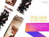 Hete Verkoop 100% het Haar van Remy Brzilian van het Weefsel van het Menselijke Haar Één Pak voor Volledig Hoofd