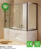 Cerco simples do chuveiro da alta qualidade de canto da porta do chuveiro