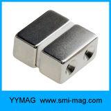 N52 Magneten van het Neodymium van de Vorm van het Blok de Sterkste Vlakke voor het Opheffen