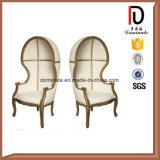 Silla real moderna de la silla de ala de la parte posterior del colmo