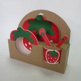 Bambusfaser-Kinder stellten, Karotte-Erdbeere-Entwurf ein